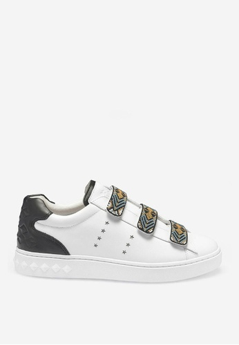 ASH multi Pharell - Black/White/Yellow Beads Embroidery Sneakers AB851SHA515F41GS_1