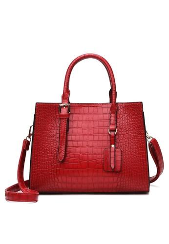 Twenty Eight Shoes Stylish Crocodile Texture Leather Tote Bag DP8090 ABCD6ACAB16195GS_1