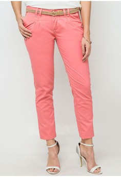 Two Tone Pleated Pants