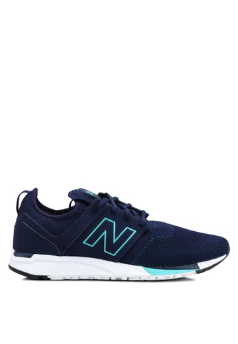 New Balance navy 247 Knit Lifestyle Shoes 11722SHCF75A69GS_1