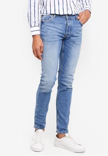 MANGO Man blue Slim-Fit Faded Medium Wash Jan Jeans 30598AA7FC6AE3GS_1