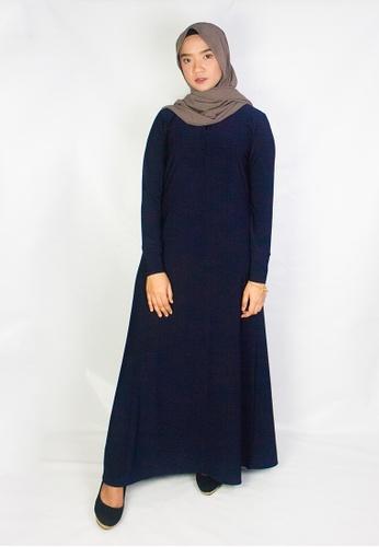 Zaryluq blue and navy Shirt Dress in Prussian Blue AAB1BAA7BA1F2BGS_1