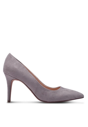 Dorothy Perkins grey Wide Fit Grey Electra Court Shoes 09DDDSH2F0FCADGS_1