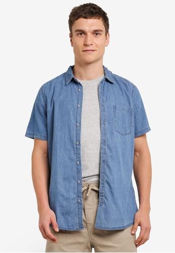Cotton On blue 91 Short Sleeve Shirt CO372AA0S9N1MY_1