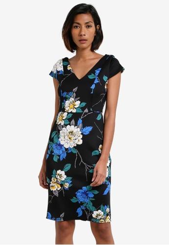 Dorothy Perkins navy Twighlight Scuba Dress DO816AA0RY1BMY_1