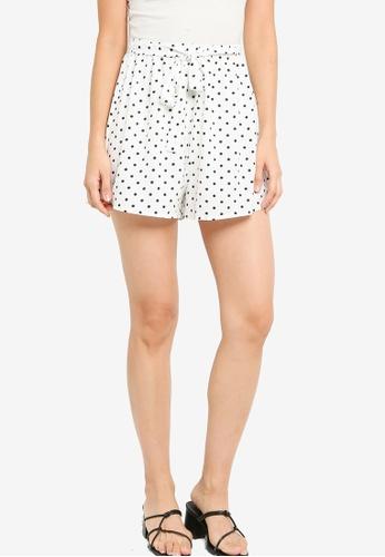 ZALORA BASICS 多色 Polka Dot Shorts with Sash 4B41FAAD123BD0GS_1