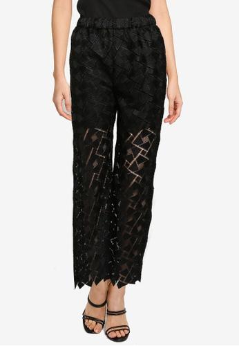 JEANASIS black Geometric Lace Pants F6FCAAA167FF57GS_1