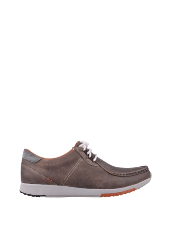 Hush Puppies brown and multi Hush Puppies SUMNER LAUNCH In  Dark Taupe 51E6DSHE70F0FFGS_1
