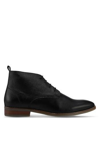 ACUTO black Leather Business Shoes AC283SH42URDMY_1