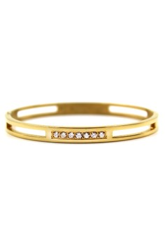 Venice Gold and Crystals Bangle