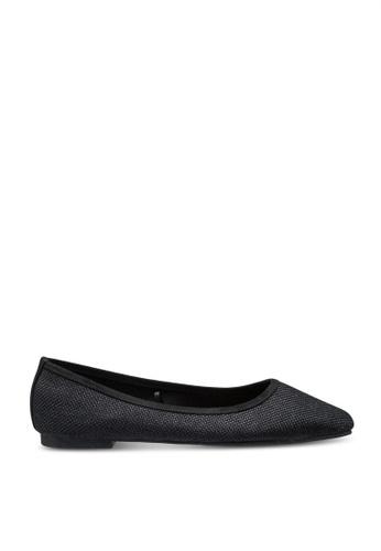 Rubi 黑色 Essential Carina Square Toe Ballerina Flats FEEADSHB0ABFE4GS_1