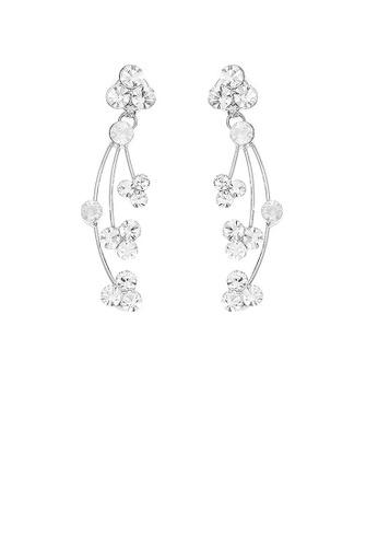 Glamorousky silver Elegant Rainbow Earrings with Silver Austrian Element Crystals 0B83EACDD42935GS_1