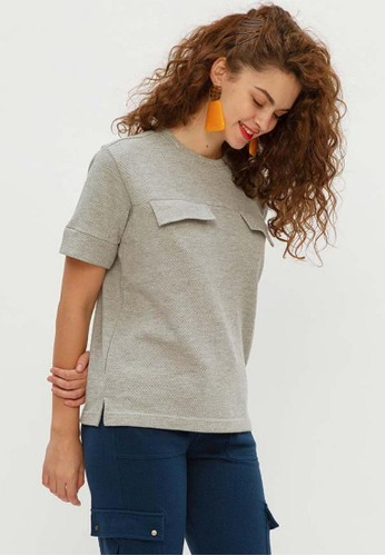 Muzca grey MUZCA WOMEN Willow Double Pocket Shirt F72A6AAA53AEF4GS_1