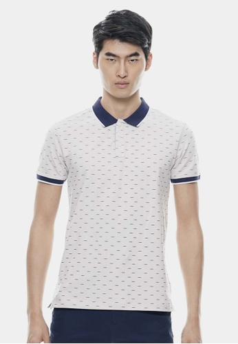Private Stitch grey Full Prints Polo Shirts PR777AA30CTDMY_1