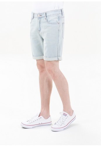 Drum Classic Short Jeans-BLU DR425AA78TORMY_1