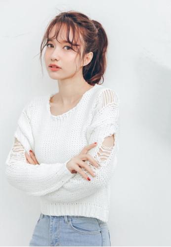 Shopsfashion white Karina Pullover SH656AA60QPBSG_1