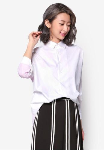 條紋拼接長袖襯衫, 服飾, esprit 台中上衣