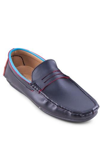 撞色方頭樂福鞋, 鞋,esprit outlet 香港 鞋