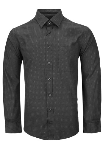 Pacolino black Casual-Smart Long Sleeves Shirt PA995AA40CPRMY_1
