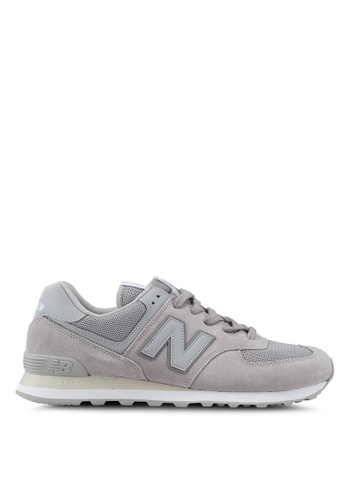 New Balance grey 574 Lifestyle Classic Tonal Shoes 12831SH62F5D97GS_1
