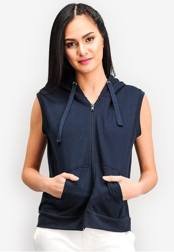 Shop BENCH Sleeveless Fleece Hoodie Online on ZALORA Philippines f842b15b8