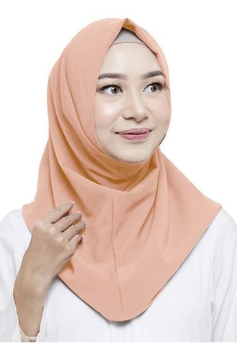 zelena orange Yumna Instan Hijab - Peach ZE872AA0VQKCID_1