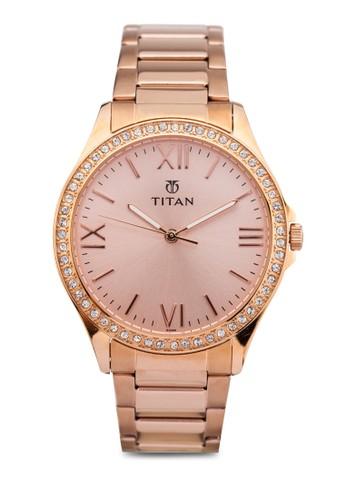 Titan P3H 9955WM01 羅馬數字不銹鋼圓錶, 錶類,esprit 特賣 時尚型