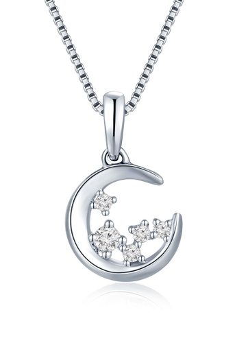 Buy mabelle the luna 18k750 white gold diamond moon pendant free mabelle silver the luna 18k750 white gold diamond moon pendant free silver necklace f4f57acbef5e37gs1 aloadofball Image collections