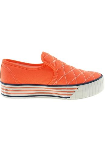 Maxstar orange Maxstar Women's C30 Stitched Platform Canvas Slip On Shoes US Women Size MA164SH31QQESG_1