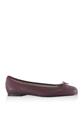 Covet red French Sole Henrietta Ballet Flats CO331SH89YJEPH_1