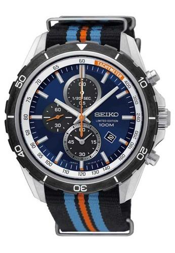 Seiko multi Seiko Criteria Silver and Black Nylon Watch 9C520AC6E3B3E9GS_1