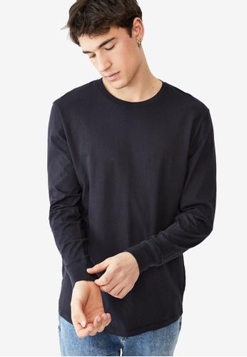 Cotton On navy Organic Long Sleeve T-Shirt 739F7AAB287A19GS_1