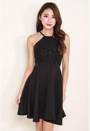 Leline Style black Jayde Lace Dress LE802AA0FV6TSG_1