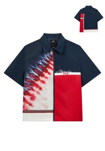 FILA navy FILA x 3.1 Phillip Lim Logo Gradient Color Patchwork Jacket 0A8B9AA7BA54F2GS_1