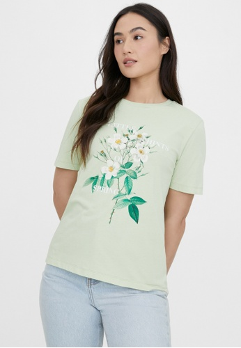 Pomelo green Sustainable Cotton Little Hints of Spring Tee - Olive 0EA87AA4F9308BGS_1