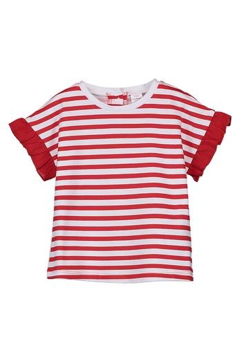 LC Waikiki red Baby Girl Striped Cotton T-Shirt 46F44KA6F4CB08GS_1