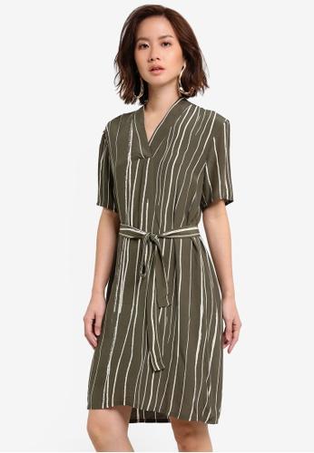 Selected Femme green Kai Dress SE157AA0RGMRMY_1