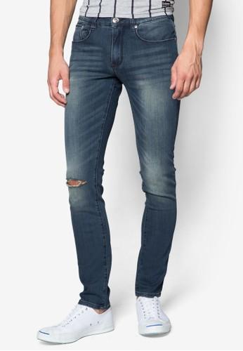 Indie 刷破窄管牛仔褲, esprit台灣網頁服飾, 服飾