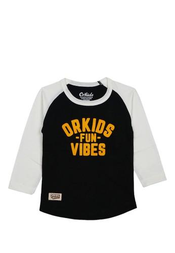 ORKIDS WEAR black and multi ORKIDS Baju Kaos Anak Funvibes Only Black Bw 6674CKAEA0E27CGS_1