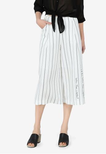 Hopeshow white and multi Striped Culottes CC59BAA89ACB78GS_1