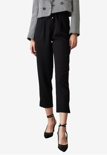 Trendyol black Tie Waist Detail Pants 65F6AAA240462CGS_1