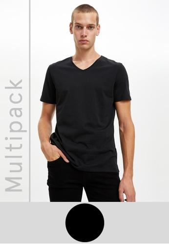 DeFacto black Man 2 Piece T-Shirt Set ADA95AA7594903GS_1