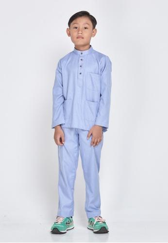 MOTHER & CHILD blue Baju Melayu Sultan Exclusive Kids 8D3B5KA474EBA0GS_1