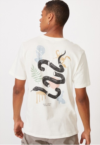 Cotton On white Tbar Art T-Shirt 9BB45AA8F2F296GS_1