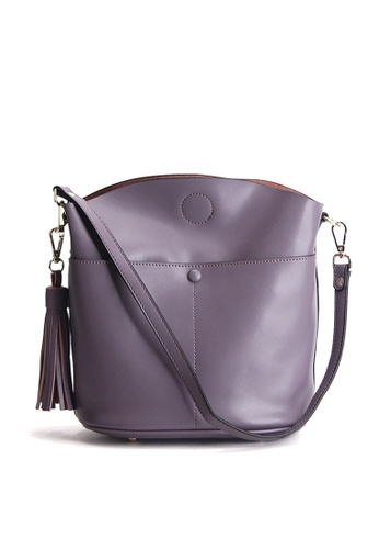 Twenty Eight Shoes purple VANSA Nappa Leather Fringed Shoulder Bag VBW-Cb169 07E7AAC37F4F4EGS_1