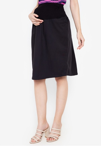 Mommy Plus black Vania Maternity Skirt 95E8BAA0E16234GS_1