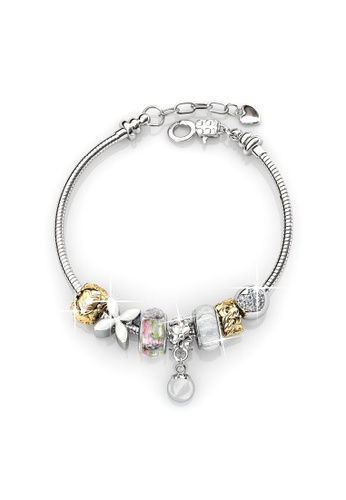 Her Jewellery white and silver Pearl Charm Bracelet (White) HE210AC76BEPSG_1