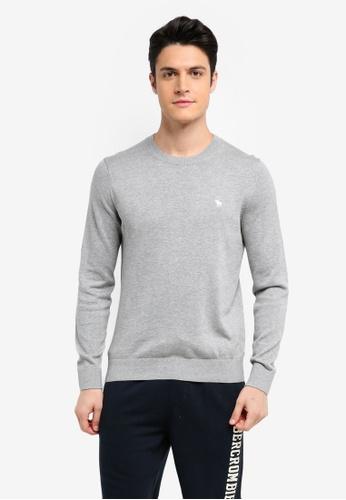 Abercrombie & Fitch grey Crew Neck Knit Sweater 86734AA922C05CGS_1
