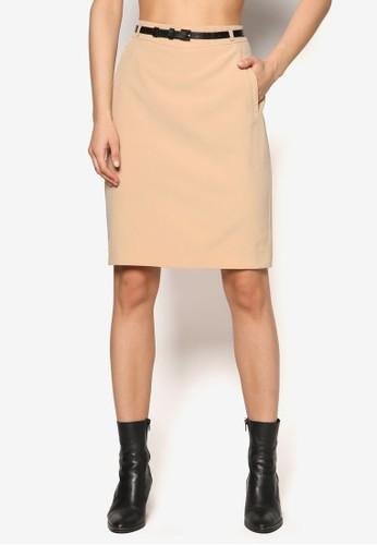 腰esprit 價位帶及膝短裙, 服飾, 裙子