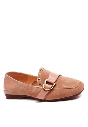 Twenty Eight Shoes 粉紅色 裝飾扣及鉚釘高面鞋 VF1987 3AEC3SH475F854GS_1